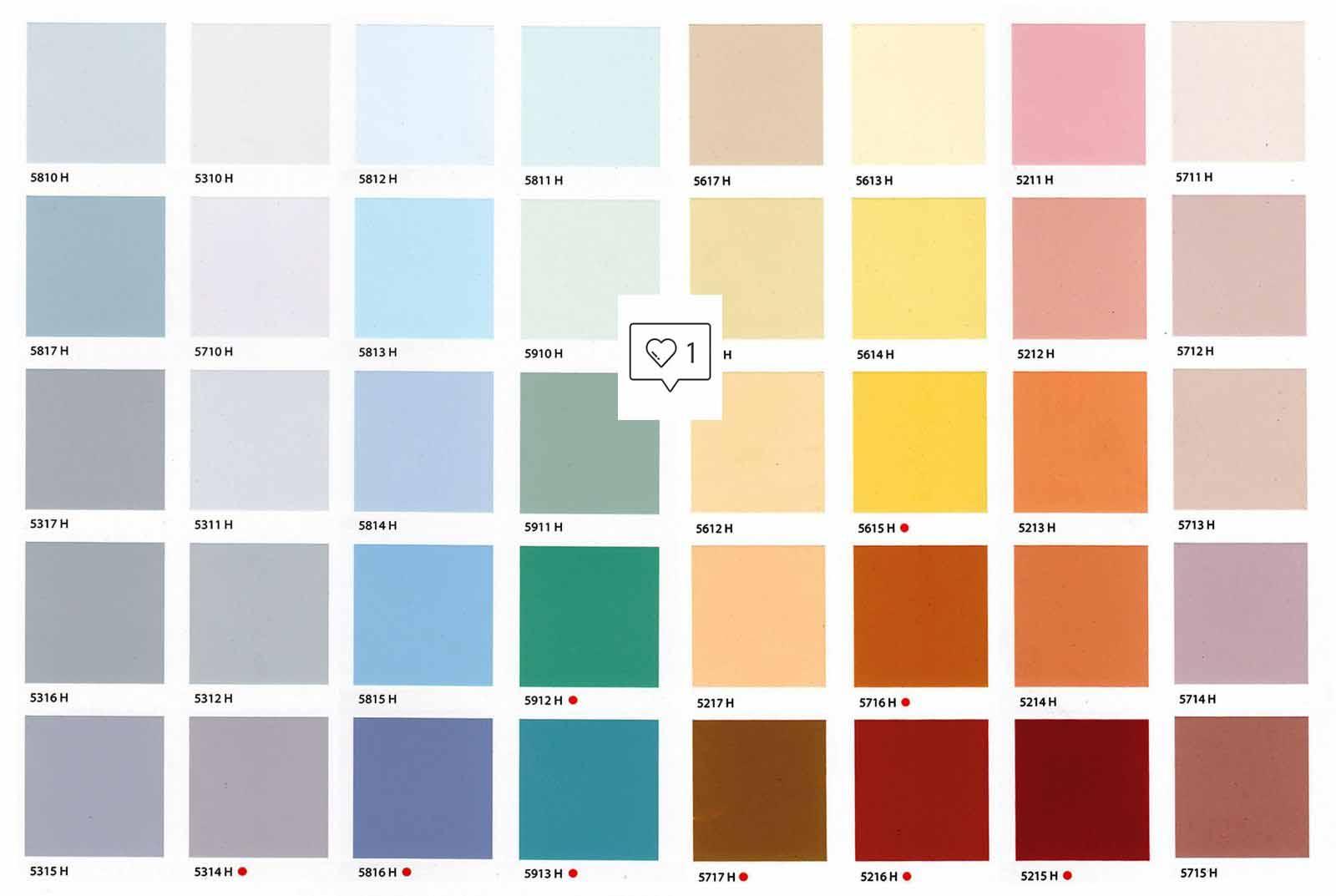 bảng màu của sơn tường